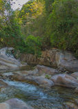 Mountain river. Before a waterfall in Vietnam Stock Image