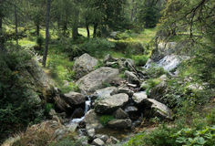 Mountain river and waterfall Stock Photography