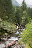 Mountain river and waterfall Royalty Free Stock Image