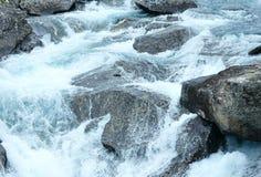 Mountain river waterfalls. Nature background. Royalty Free Stock Photos