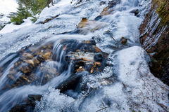 Mountain river on winter Stock Image