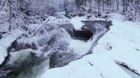 Mountain river in winter Stock Photo