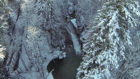 Mountain river in the winter Royalty Free Stock Photos