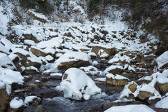 Mountain river in the winter Royalty Free Stock Photography