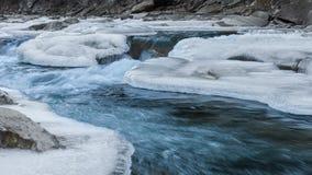 Mountain river in winter Stock Photos