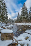 Mountain river in winter, Tatra Mountains Stock Photo