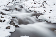 mountain river in winter time Royalty Free Stock Images