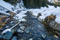 Mountain river on wintertime Stock Photo