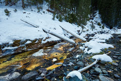 Mountain river on wintertime Stock Image