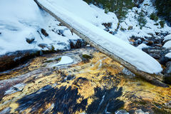 Mountain river on wintertime Stock Image