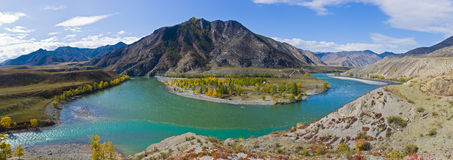 Mountain rivers Stock Image