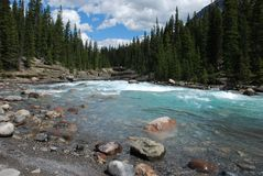 Mountain and rivers stock photography