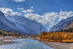 The mountain rivers of the Caucasus Stock Image