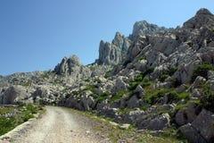 Mountain road. Cliff on mountain Velebit - Croatia Royalty Free Stock Photography