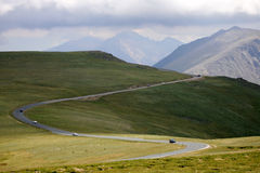 Mountain Road. Zigzag in Colorado Mountains Royalty Free Stock Photography