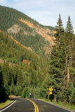Mountain Road. In Colorado Mountains Royalty Free Stock Photography