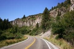 Mountain Road. In Colorado Mountains Stock Image