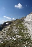 Mountain road. Panorama captured in Castelluccio di Norcia Royalty Free Stock Photo
