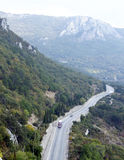 Mountain road. Road at South coast Crimea. Ukraine. Near city Laspi Royalty Free Stock Image