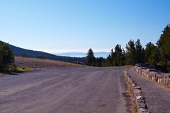 Mountain Road. Crater Lake National Park, Oregon, United States Royalty Free Stock Photography