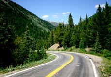 Mountain Road. In Colorado Rockies Royalty Free Stock Photos