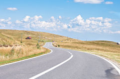 Mountain road. Paltinis, Sibiu County, a mountain road royalty free stock images