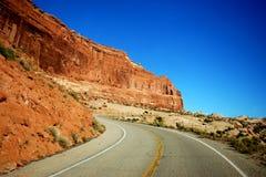Mountain Road. In Utah high desert Stock Photography