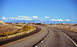 Mountain Road. In Utah high desert Royalty Free Stock Photography