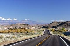 Mountain Road. In Utah high desert Stock Photos