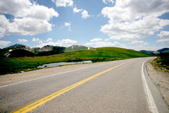 Mountain Road. Continental Divide Road in high Rockies, Colorado Stock Image