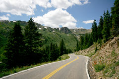 Mountain Road. In high Rockies, Colorado Royalty Free Stock Photography