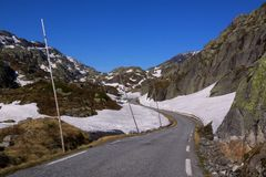 Mountain road. Mountain scenic road Ryfylke in Norway Stock Image