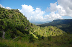Mountain road. Nearby Port Moresby in Papua New Guinea Royalty Free Stock Image