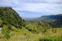 Mountain road. Nearby Port Moresby in Papua New Guinea Royalty Free Stock Photography