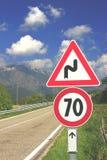 Mountain Road. At Monte Baldo, Italy Royalty Free Stock Photo