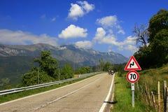 Mountain Road. At Monte Baldo, Italy Stock Photo