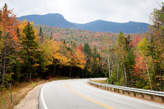 Mountain Road. In autumn forest Stock Images