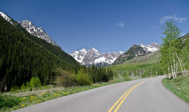Mountain road Royalty Free Stock Photos