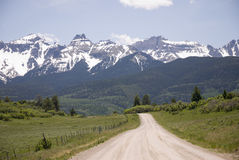 Mountain road. Road to the San Juan Mountains in Western Colorado Royalty Free Stock Photography