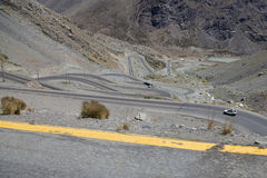 Mountain road. At the Andes, Chile Stock Photography