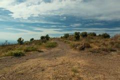 Mountain road. Landscape. Mountain, sky in Costa brava. Spain Royalty Free Stock Image