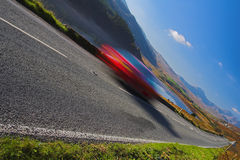 Mountain road. With blurred car stock images