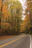 Mountain Road. Beautiful Fall mountain scenic highway Royalty Free Stock Photo