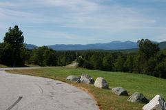 Mountain Road. The mountains of New Hampshire in the summer time Royalty Free Stock Images