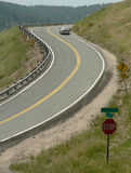 Mountain Road. Curvy road in a mountain neighborhood Stock Image