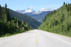 Mountain Road. In the Rockies Stock Image