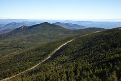 Mountain Road. In the adirondacks New York stock photo