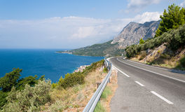 Mountain road, Adriatic coastline Royalty Free Stock Photos