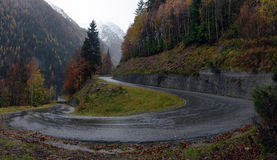 Mountain road in the Alps Royalty Free Stock Photo