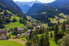 Mountain road in the Alps, Innsbruck, Austria Royalty Free Stock Image